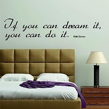 greenluup Wandtattoo Spruch Walt Disney Zitat Schwarz Dream ...