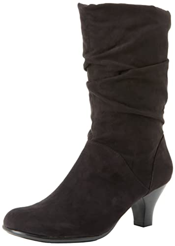 Aerosoles Women's Wise N Shine Slouch Boot,Black Fabric,5.5 ...
