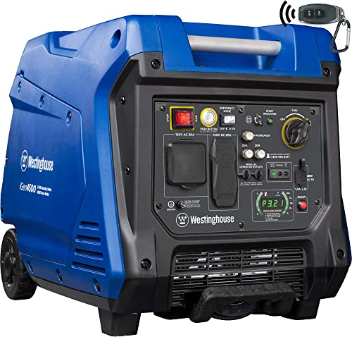Westinghouse iGen4500 Super Quiet Portable Inverter Generator 3700 Rated & 4500 Peak Watts