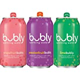 bubly Sparkling Water, Passionfruit Bliss Variety Pack, 12oz Cans (18 Pack)