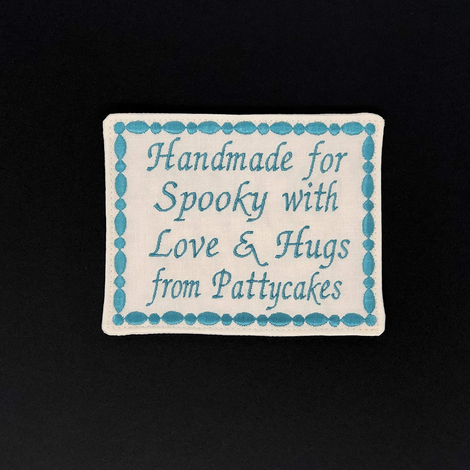 Custom Embroidered Label Quilt Label Personalized One Large Embroidered Label 4x5 inches