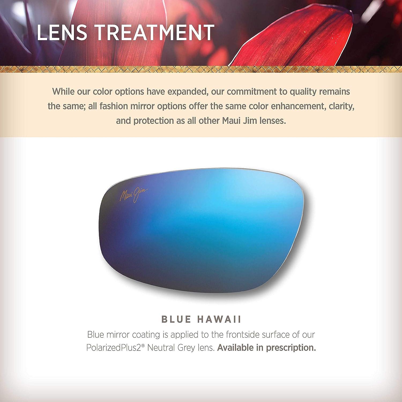 Maui Jim Unisex-Adult Ho'okipa Sunglasses, Smoke Grey/Blue Hawaii Polarized, Medium: Maui Jim: Clothing