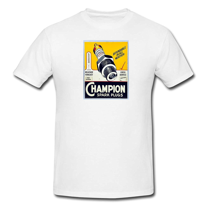 Coole Designer T Shirt top Vintage Champion Spark Plugs