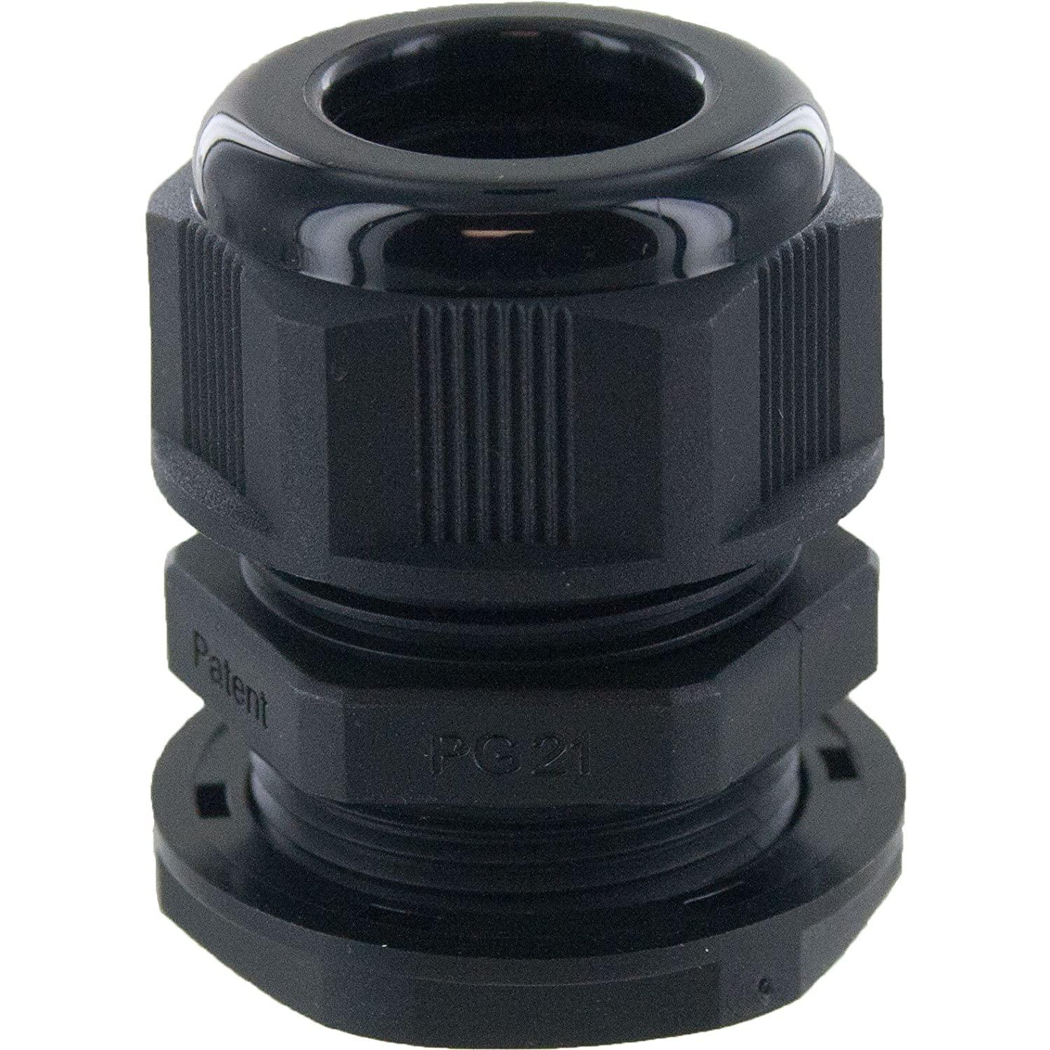 PG29 NYLON CABLE GLAND WITH LOCK NUT IP68 PROTECTION PACKS OF 10 29mm, BLACK