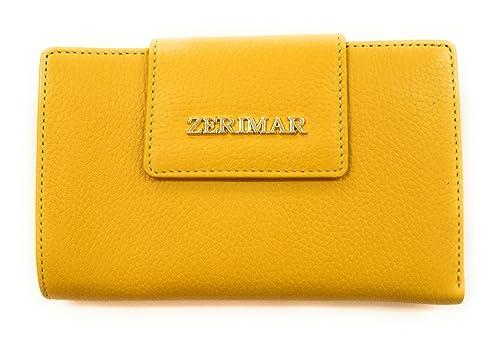 c96b32040 Zerimar Carteras mujer  Carteras mujer piel Cartera mujer con monedero  Color Amarillo Medidas: 16 x 10 cms: Amazon.es: Zapatos y complementos