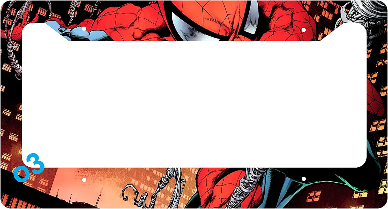 Black Metal License Plate Frame I Heart Spiderman Auto Accessory