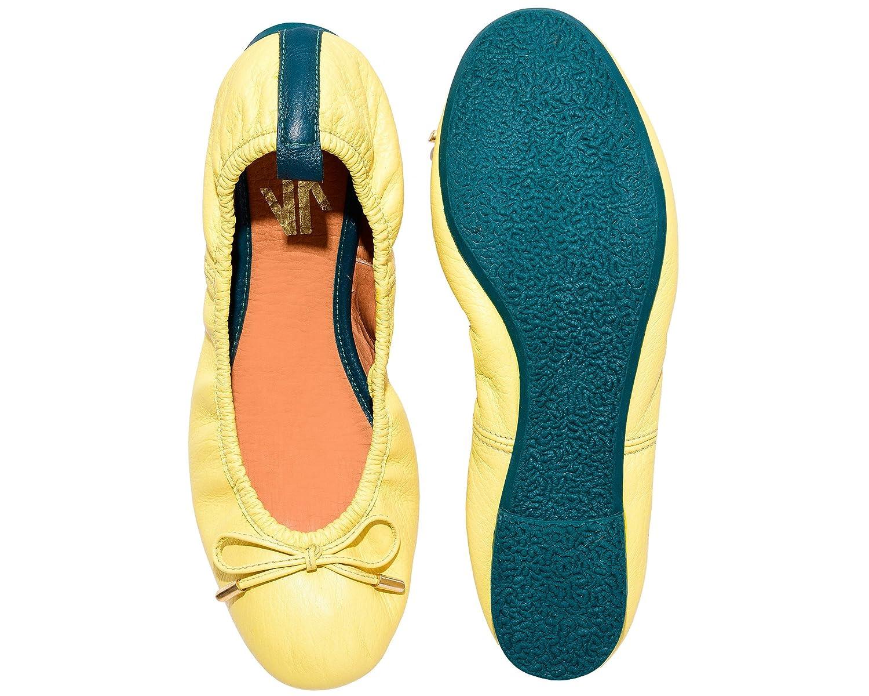 VIDALeather Daily Women Ballerina Colombian Leather Flats | Zapatillas de Mujer B01K3BTBSW 6 B(M) US|Yellow