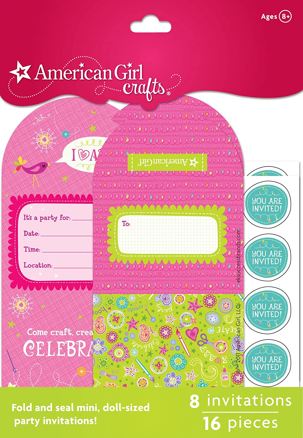 Amazon.com: American Girl Crafts Tiny Design Doll Invitations: Toys ...