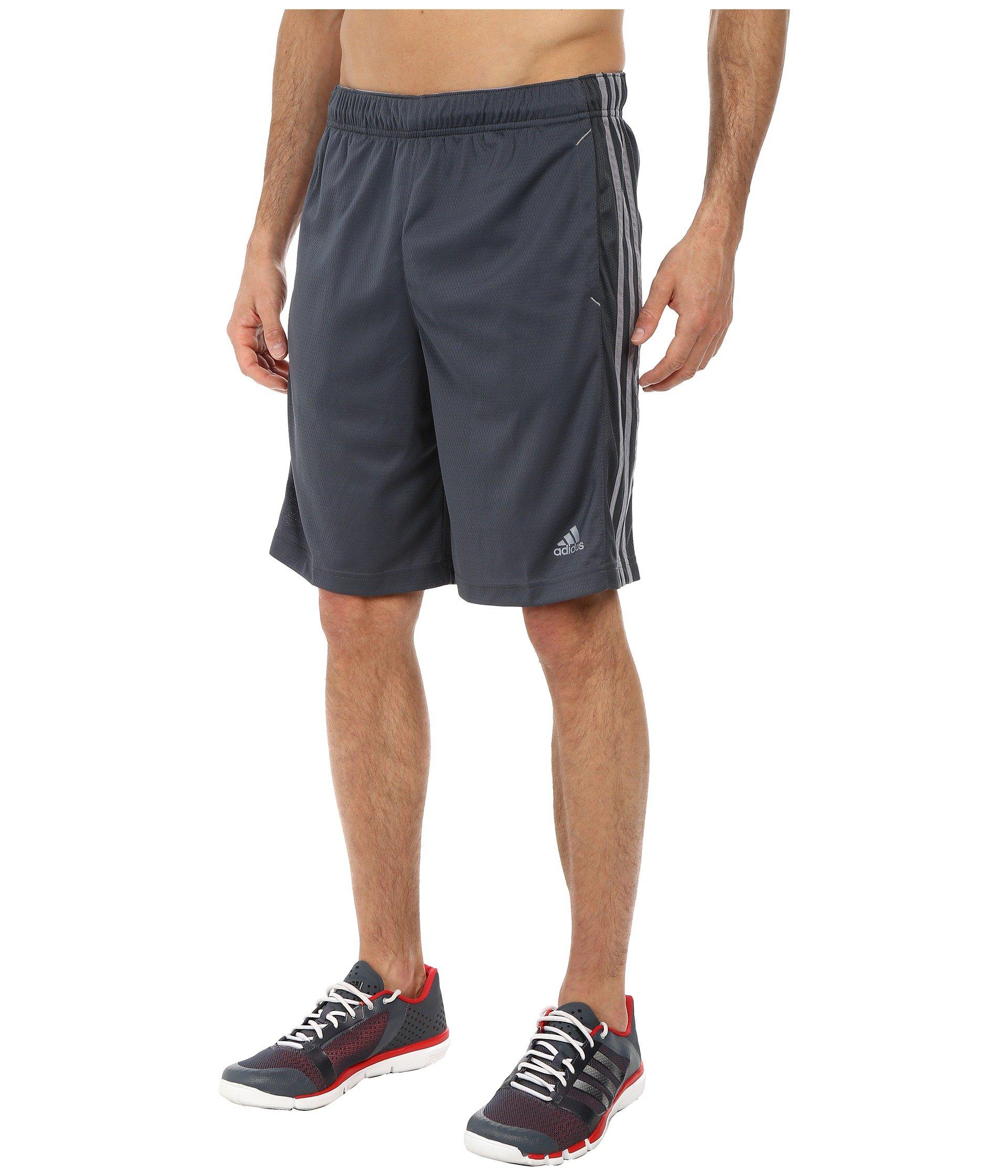 adidas Men's Essentials 3-Stripe Shorts, Dark Onix/Tech Grey, XXXX-Large