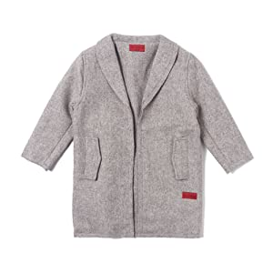 Drake Raw Edge Peacoat (Grey)-Unisex