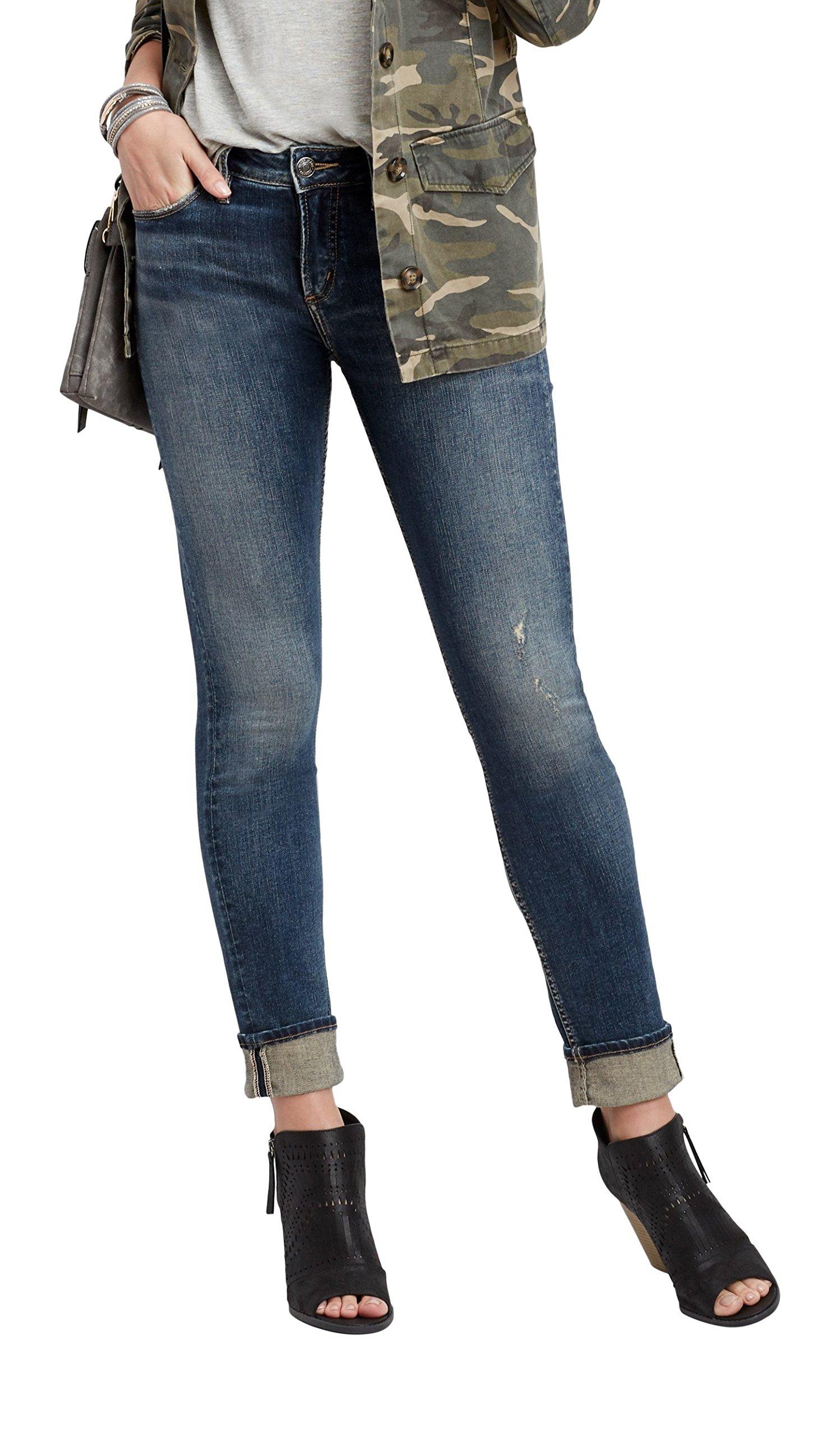 Silver Jeans Co. Women's Avery Medium Wash Straight Leg Jean 29 Medium Sandblast