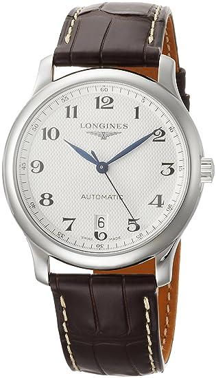 Longines Reloj Analógico para Hombre de Automático con Correa en Cuero L26284783: Amazon.es: Relojes