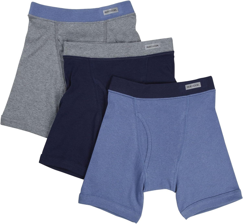 Fruit of the Loom Mens 3-Pack Premium Man Knit Boxer 2 Big Pick SZ//Color.