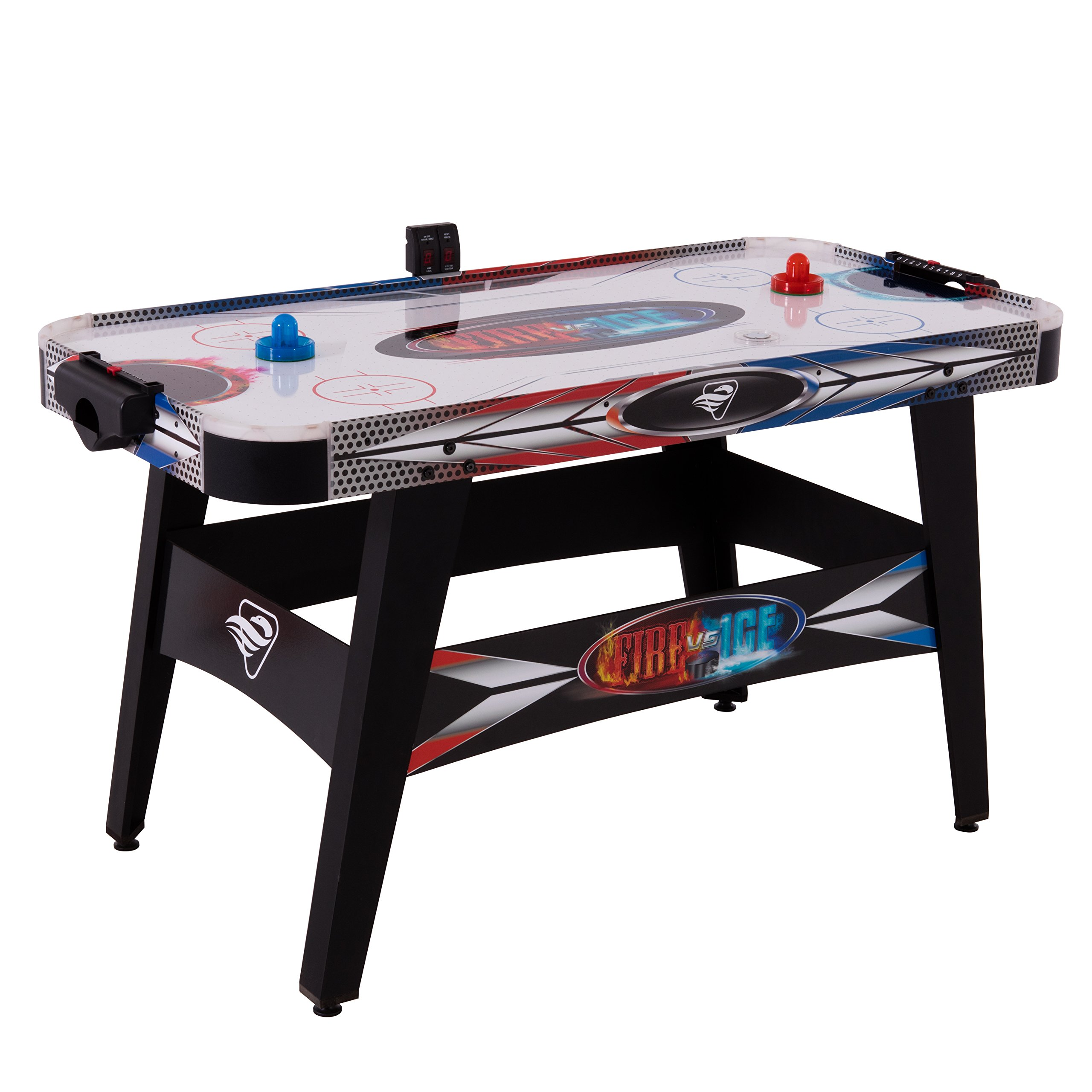 Triumph Fire 'n Ice LED Light-Up 54'' Air Hockey Table Includes 2 LED Hockey Pushers and LED Puck by Triumph Sports