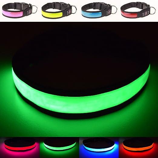 3 opinioni per Collaredi sicurezza per cani a LED, super luminoso, ricaricabile USB –ottima