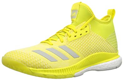 size 40 2f4e6 f3679 adidas Women s Crazyflight X 2 Mid Volleyball Shoe Shock Yellow ash  Silver White 5