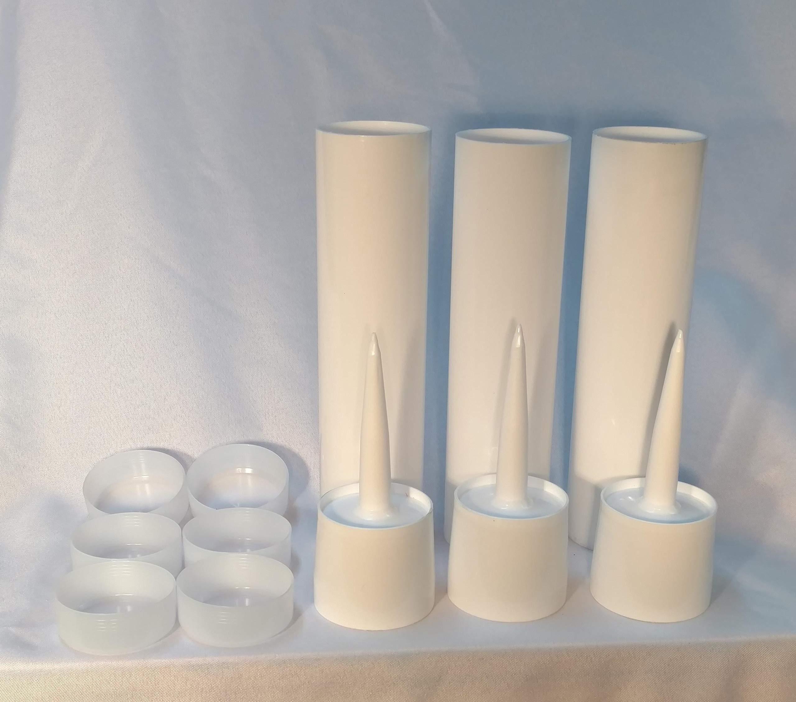 Quart Size Reusable Empty Caulk Tube - REFILLABLE CAULKING Cartridge 32 oz. - 3 Pack - Made in USA