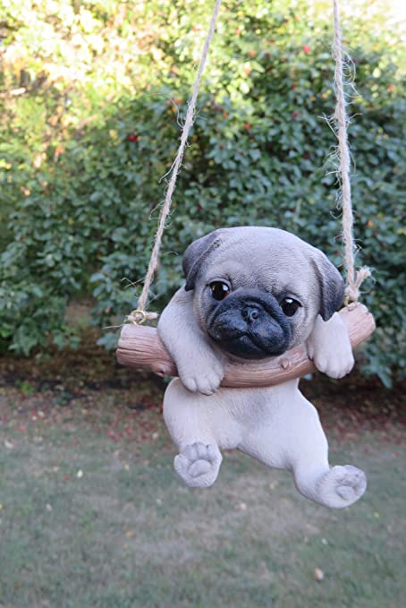 Amazoncom Chosentreasures4you Pug Dog In A Swing Home Kitchen