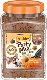 Friskies Party Mix Natural Yums Adult Cat Treats - 20 oz & 30 oz. Canisters