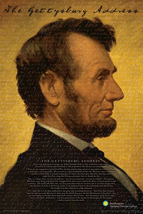Aquarius Smithsonian Lincoln Poster 24 by 36 Inch