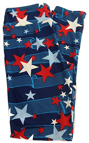 46bf70ef94c1bd Lularoe Mystery Print - One Size (OS) (0-10) (4th of July) at Amazon ...