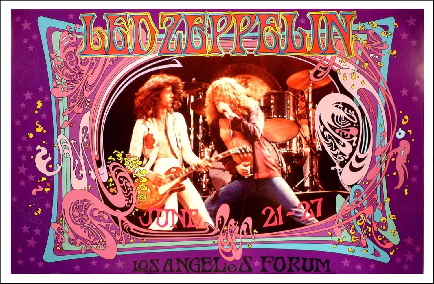 BOB MASSE LED ZEPPELIN FORUM ROCK CONCERT POSTER SIGNED BY ARTIST