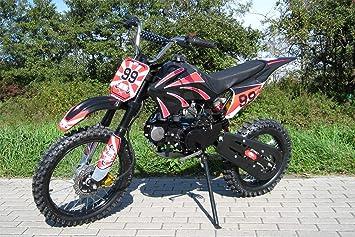 Moto cross dirt bike 125 cc negra para niños y jóvenes: Amazon.es: Coche y moto