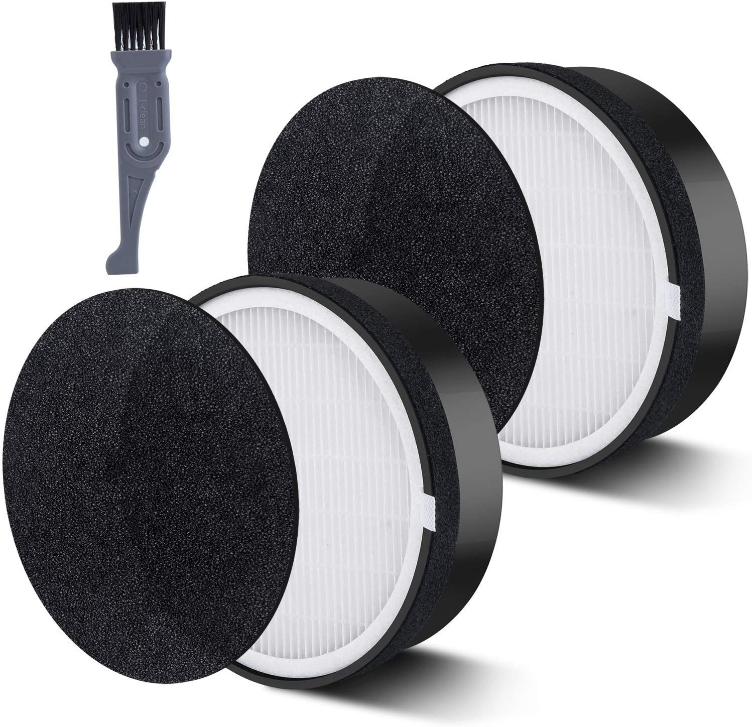 2 Packs Air Purifier Replacement Filter for LEVOIT LV-H132 LV-H132-RF HEPA Filter Replacement Activated Carbon Filters Set
