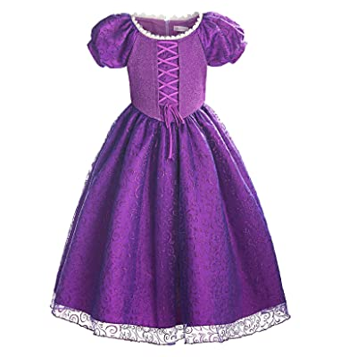ReliBeauty Girls Princess Lace up Dress Costume: Clothing