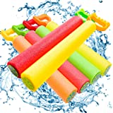 ToyerBee Water Gun, 6 Pack Water Guns for Kids-Pool Toys-Shoots Up to 35 Ft, Water Blaster Squirt, Water Cannon for 4.5.6.7 Y