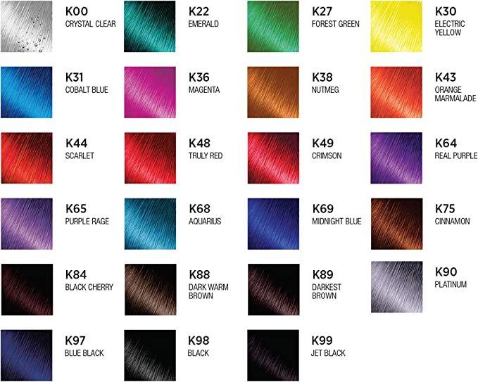 Kiss Express Color Semi- Permanent Jet Black 3.5oz by Kiss Express