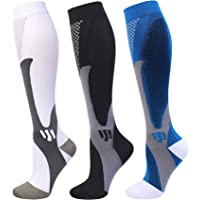 Compression Socks 20-30 mmHg for Men Women Medical Nurses Athletic Travel