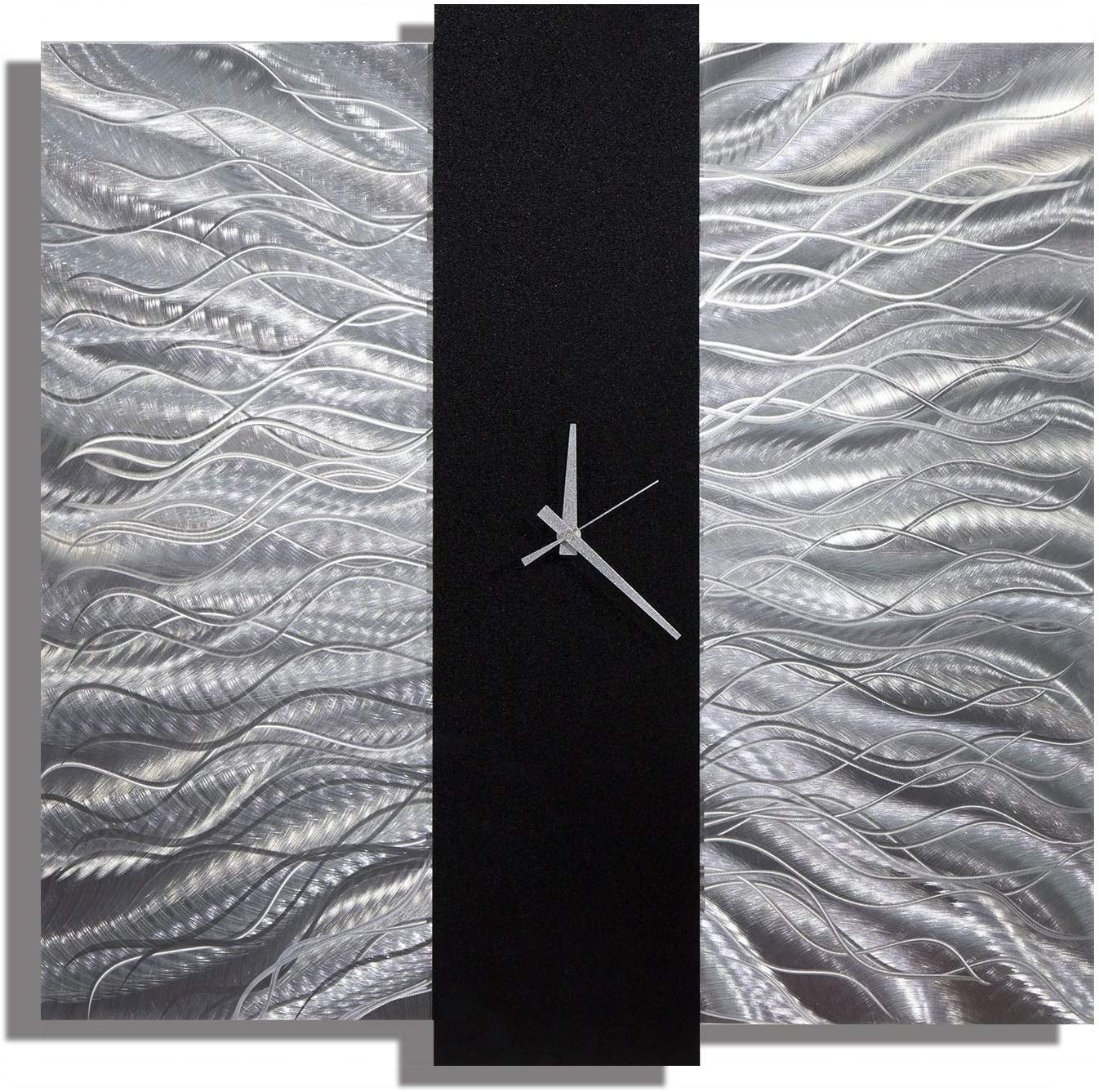 Elegant Mechanism Abstract Metal Wall Art Home Decor Clock Silver And Black Wall Clock Amazon Co Uk Kitchen Home
