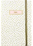 "C.R. Gibson Password Log Book, Space for 576 entries, 3 entries per page, Measures 3.5"" x 5.5"" - Gol Blush"