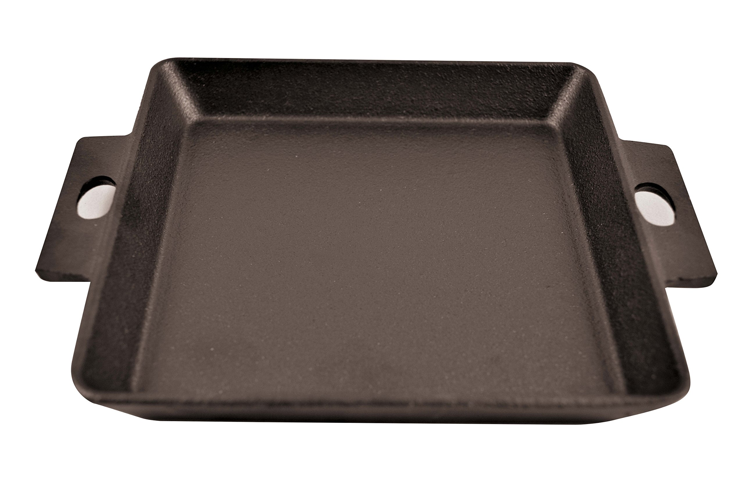 Paderno World Cuisine Cast Iron Square Griddle, 5 3/4-Inch