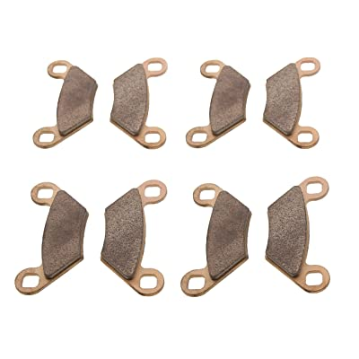 Race Driven Sintered Metal Severe Duty Front and Rear Brake Pads for Polaris Sportsman Scrambler: Automotive