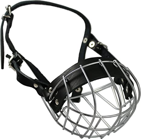 New Metal STRONG Wire Basket Muzzle for Poodle 3 /& 3 and similar snout