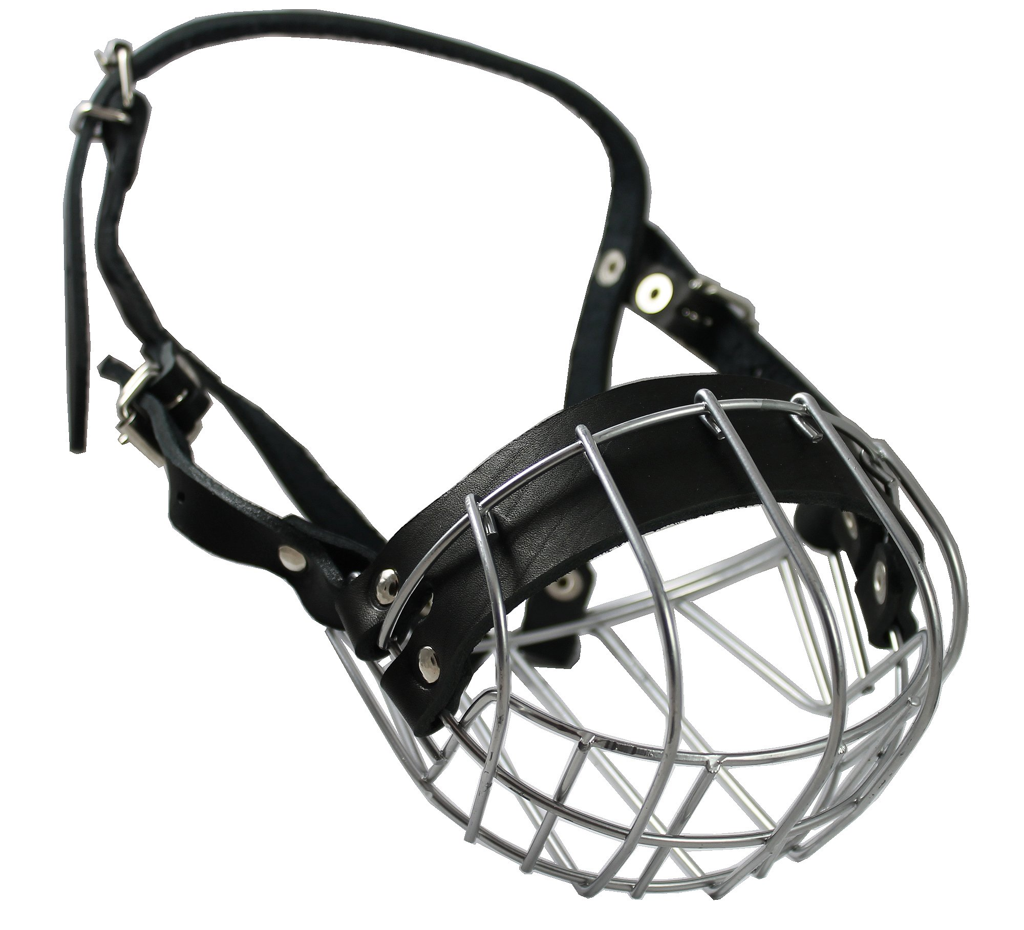 Metal Wire Basket Dog Muzzle Boxer, Bulldog Male. Circumference 14'', Length 3.5''