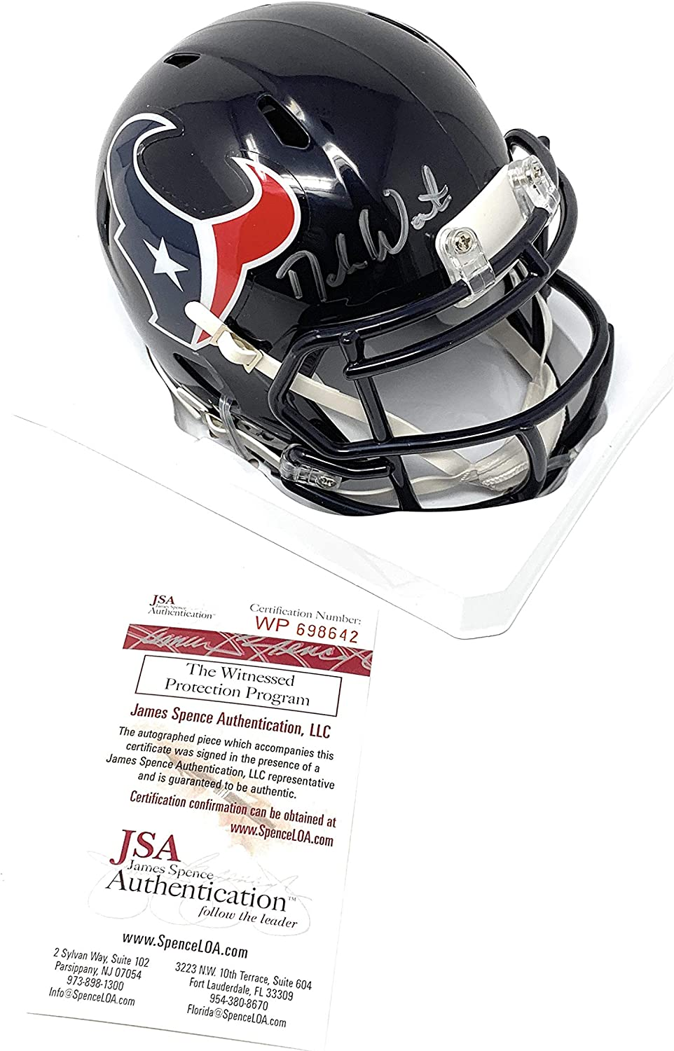 Deshaun Watson Houston Texans Signed Autograph Mini Helmet Watson GTSM Holo JSA Witnessed Certified