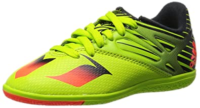 reputable site 7c382 aea0d adidas Messi 15.3 in Junior Indoor Sports Soccer Cleats, Size 3.5 Green