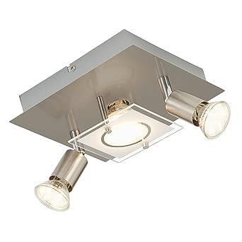 Briloner Leuchten Deckenleuchte Led Lampe Deckenlampe Led Strahler Spots Wohnzimmerlampe Deckenstrahler Deckenleuchte Wohnzimmer Deckenspot