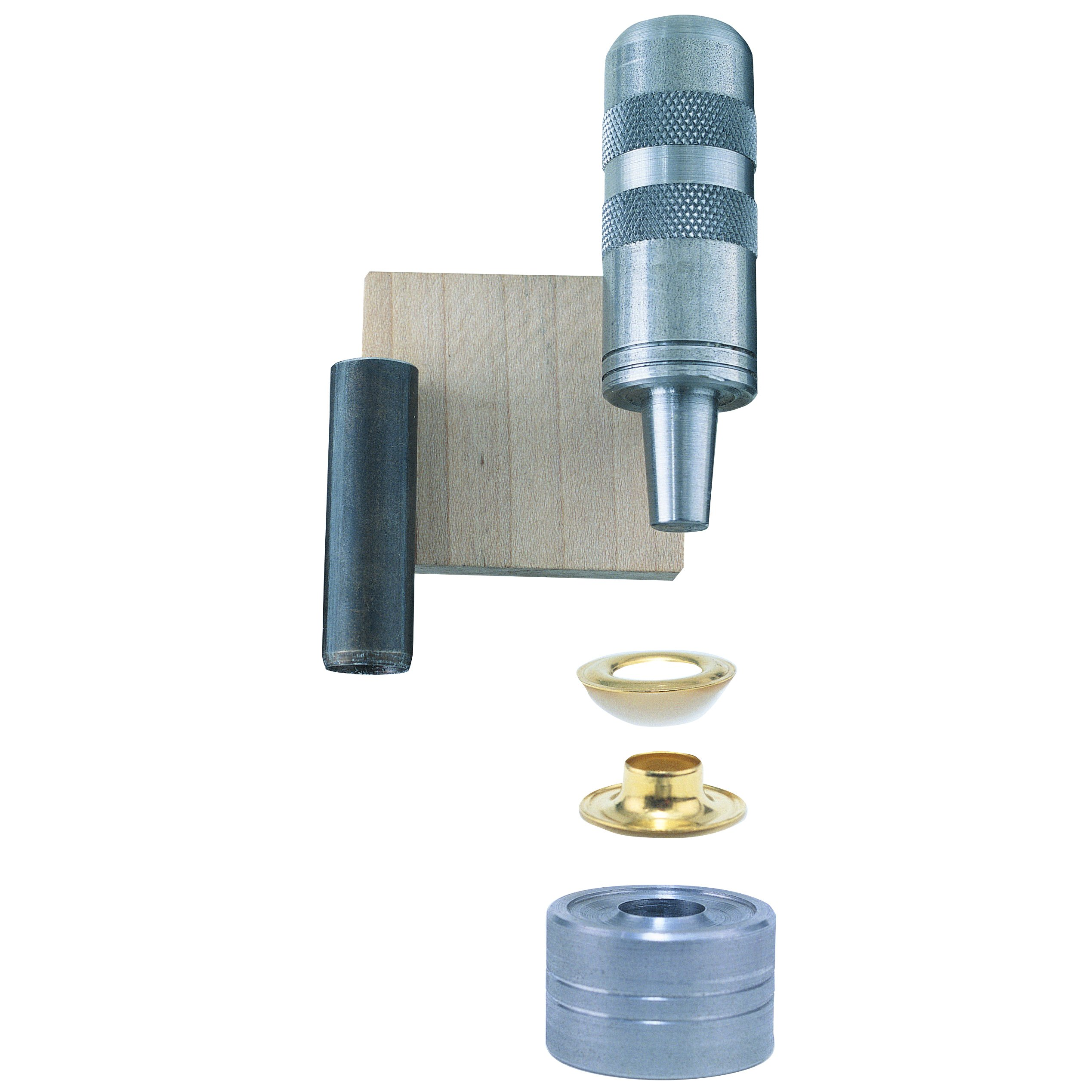 General Tools 71262 Grommet Kit with 24 Rustproof Solid Brass Grommets, 3/8 Inch by General Tools (Image #1)