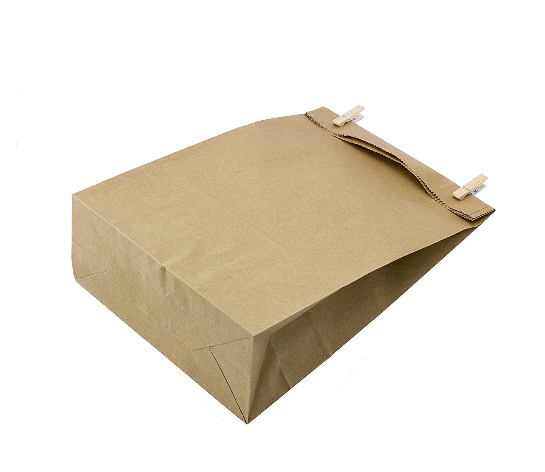 100 Kraft marrón bolsas de papel con base 14 x 8 x 26 cm, 70 gr./m2. papel para envolver pan galletas y dulces de panadería. Ideal para bolsas de regalo, bolsas de fiesta, calendario de adviento. KGpack