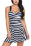 Avidlove Women's One Pieces Swimsuits Striped Slim Swimwear Padded Swim Dress Bikinis