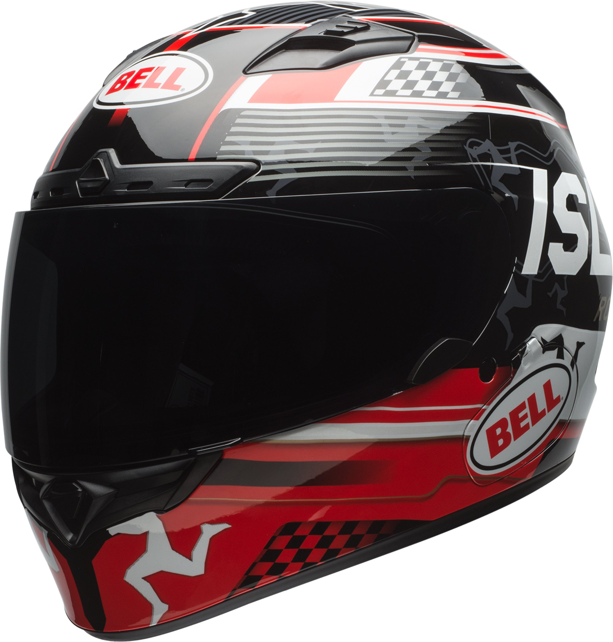Bell Qualifier DLX Isle Of Man Black/Red Full Face Helmet - X-Large by Bell (Image #5)