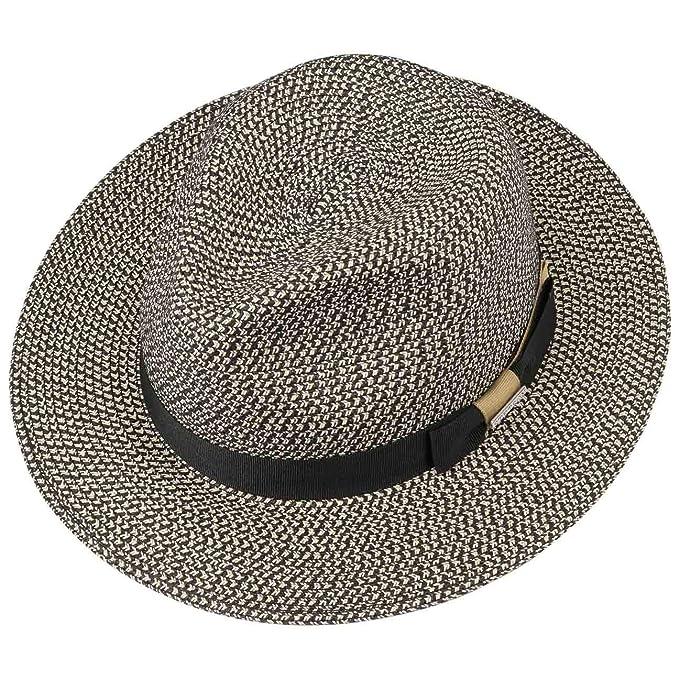 Stetson Newkirk Traveller Toyo Straw Hat Sun Beach (XL (60-61 cm) -  Black-White)  Amazon.co.uk  Clothing 9faeb66bdf60