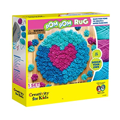 Creativity for Kids Pom Pom Rug Maker: Toys & Games