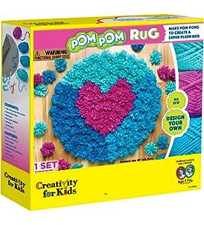 Amazon Com Pom Pom Rug Kit Toys Games
