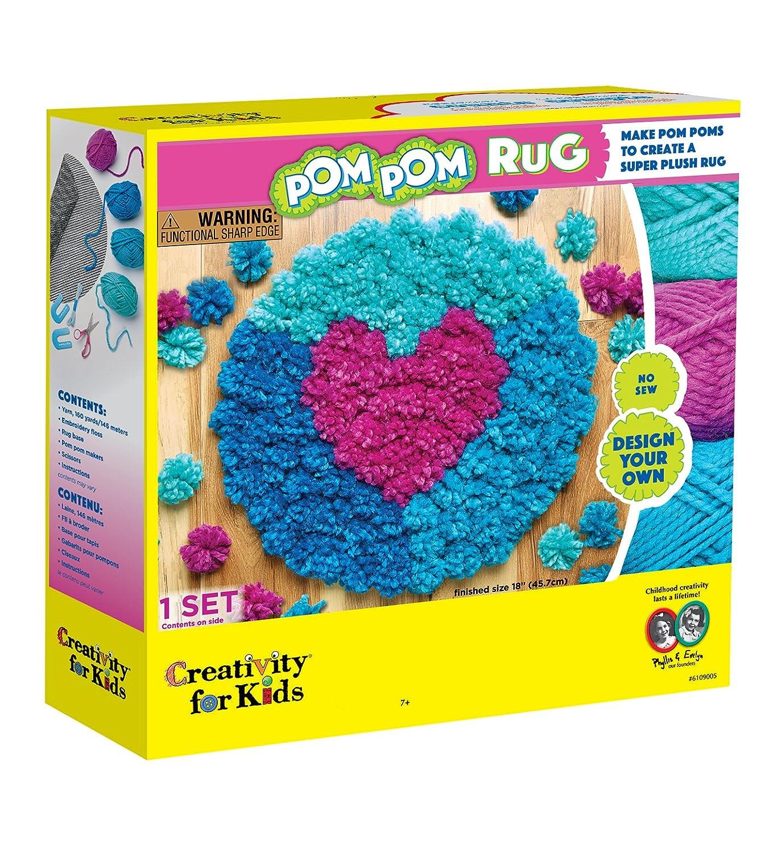 Amazon.com: Creativity for Kids Pom Pom Rug Maker: Toys & Games