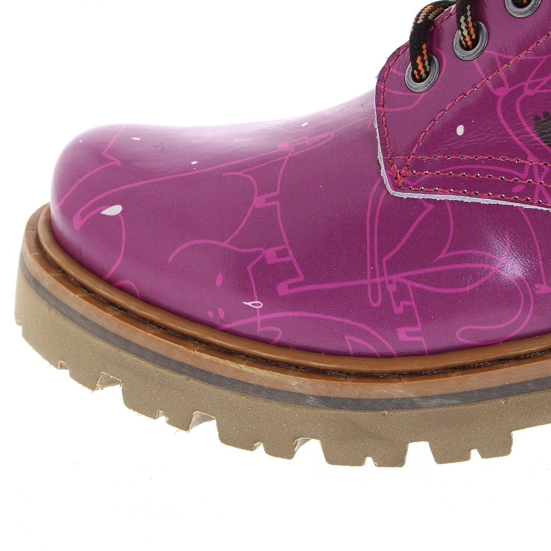 FB Fashion Stiefel Art 1187F Marina Neko Lederstiefel Lederstiefel Lederstiefel für Damen Rosa Schnürstiefel a9d7fc